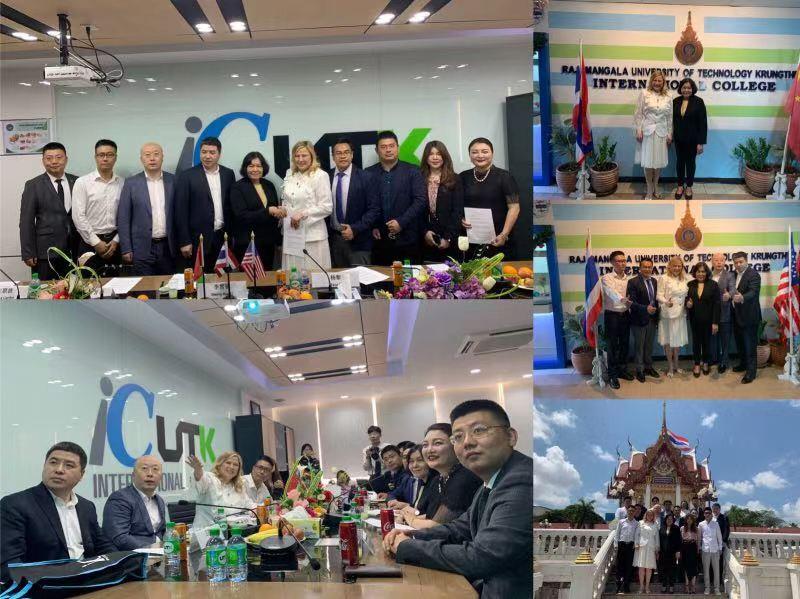 李雪锐—汤普森大学城董事长访问泰国名校